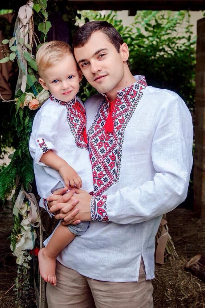 вишиванки тато і син