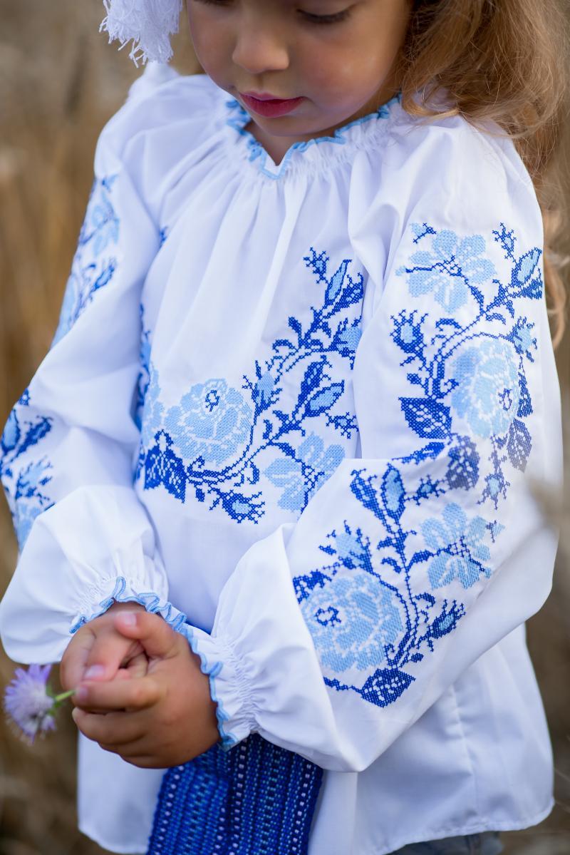 фото синьої вишивки